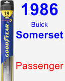 Passenger Wiper Blade for 1986 Buick Somerset - Hybrid