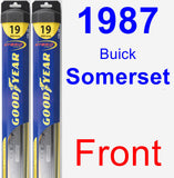 Front Wiper Blade Pack for 1987 Buick Somerset - Hybrid