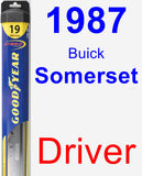 Driver Wiper Blade for 1987 Buick Somerset - Hybrid