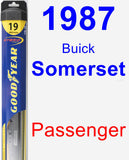 Passenger Wiper Blade for 1987 Buick Somerset - Hybrid