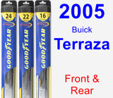 Front & Rear Wiper Blade Pack for 2005 Buick Terraza - Hybrid