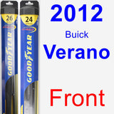 Front Wiper Blade Pack for 2012 Buick Verano - Hybrid