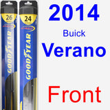 Front Wiper Blade Pack for 2014 Buick Verano - Hybrid