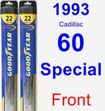 Front Wiper Blade Pack for 1993 Cadillac 60 Special - Hybrid