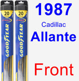 Front Wiper Blade Pack for 1987 Cadillac Allante - Hybrid