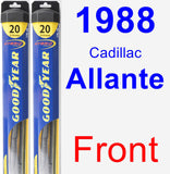 Front Wiper Blade Pack for 1988 Cadillac Allante - Hybrid