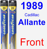 Front Wiper Blade Pack for 1989 Cadillac Allante - Hybrid