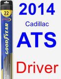 Driver Wiper Blade for 2014 Cadillac ATS - Hybrid