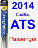 Passenger Wiper Blade for 2014 Cadillac ATS - Hybrid