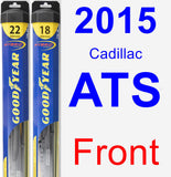 Front Wiper Blade Pack for 2015 Cadillac ATS - Hybrid