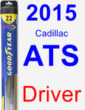 Driver Wiper Blade for 2015 Cadillac ATS - Hybrid