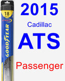 Passenger Wiper Blade for 2015 Cadillac ATS - Hybrid