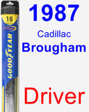 Driver Wiper Blade for 1987 Cadillac Brougham - Hybrid