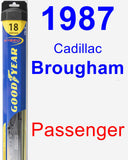 Passenger Wiper Blade for 1987 Cadillac Brougham - Hybrid