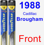 Front Wiper Blade Pack for 1988 Cadillac Brougham - Hybrid