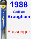Passenger Wiper Blade for 1988 Cadillac Brougham - Hybrid