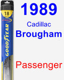 Passenger Wiper Blade for 1989 Cadillac Brougham - Hybrid