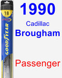 Passenger Wiper Blade for 1990 Cadillac Brougham - Hybrid