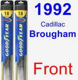 Front Wiper Blade Pack for 1992 Cadillac Brougham - Hybrid