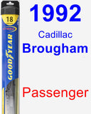 Passenger Wiper Blade for 1992 Cadillac Brougham - Hybrid