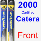 Front Wiper Blade Pack for 2000 Cadillac Catera - Hybrid