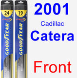Front Wiper Blade Pack for 2001 Cadillac Catera - Hybrid