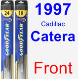 Front Wiper Blade Pack for 1997 Cadillac Catera - Hybrid