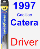 Driver Wiper Blade for 1997 Cadillac Catera - Hybrid