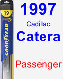 Passenger Wiper Blade for 1997 Cadillac Catera - Hybrid