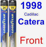Front Wiper Blade Pack for 1998 Cadillac Catera - Hybrid