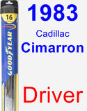 Driver Wiper Blade for 1983 Cadillac Cimarron - Hybrid