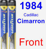 Front Wiper Blade Pack for 1984 Cadillac Cimarron - Hybrid