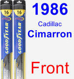 Front Wiper Blade Pack for 1986 Cadillac Cimarron - Hybrid