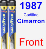 Front Wiper Blade Pack for 1987 Cadillac Cimarron - Hybrid