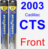 Front Wiper Blade Pack for 2003 Cadillac CTS - Hybrid