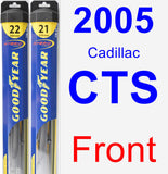 Front Wiper Blade Pack for 2005 Cadillac CTS - Hybrid
