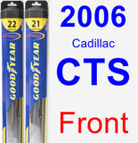 Front Wiper Blade Pack for 2006 Cadillac CTS - Hybrid