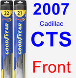 Front Wiper Blade Pack for 2007 Cadillac CTS - Hybrid