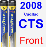 Front Wiper Blade Pack for 2008 Cadillac CTS - Hybrid