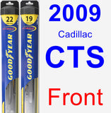 Front Wiper Blade Pack for 2009 Cadillac CTS - Hybrid