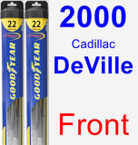 Front Wiper Blade Pack for 2000 Cadillac DeVille - Hybrid