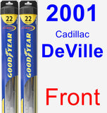 Front Wiper Blade Pack for 2001 Cadillac DeVille - Hybrid