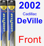 Front Wiper Blade Pack for 2002 Cadillac DeVille - Hybrid