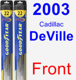 Front Wiper Blade Pack for 2003 Cadillac DeVille - Hybrid