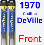 Front Wiper Blade Pack for 1970 Cadillac DeVille - Hybrid