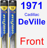 Front Wiper Blade Pack for 1971 Cadillac DeVille - Hybrid