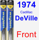 Front Wiper Blade Pack for 1974 Cadillac DeVille - Hybrid