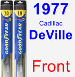 Front Wiper Blade Pack for 1977 Cadillac DeVille - Hybrid
