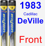 Front Wiper Blade Pack for 1983 Cadillac DeVille - Hybrid