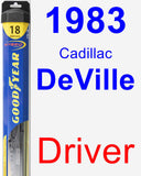 Driver Wiper Blade for 1983 Cadillac DeVille - Hybrid